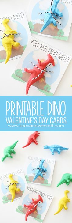 FREE Printable Dinosaur Valentines Day Cards for Kids