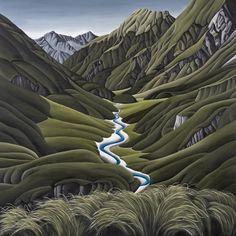 Valley Of The Hunter by Diana Adams - Art Prints New Zealand Wall Art For Sale, Antelope Canyon, New Zealand, Diana, Autumn, Art Prints, Landscape, Artist, Travel