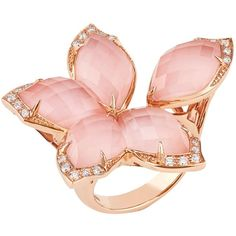 Stephen Webster Loves Me Not Crystal Haze Ring (€4.155) ❤ liked on Polyvore featuring jewelry, rings, white jewelry, handcrafted jewelry, crystal jewelry, pink crystal ring and pave diamond ring