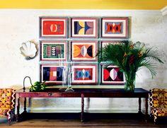 House tour: inside designer Kit Kemp's vividly coloured Barbados home - Vogue Living Vogue Living, Floral Curtains, Interior Decorating, Interior Design, Photo Displays, House Tours, Interior And Exterior, Room Decor, Contemporary