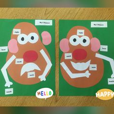 Mr. Potato Head 5 Senses activity. Preschool or kindergarten.
