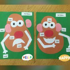 Mr. Potato Head 5 Senses activity. Preschool or kindergarten.