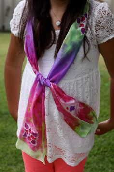 Tutorial:  How To Make a Hand Painted Silk Scarf