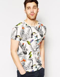 Shop Antony Morato T-Shirt With All Over Bird Print at ASOS.