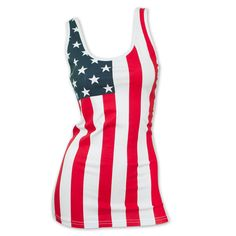 Women's Patriotic American Flag Tank Top