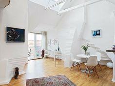 weißes Wohnzimmer-skandinavisch einrichten