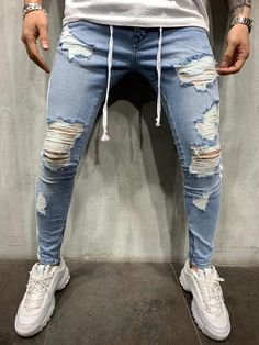 Best Fitting / Top Quality T-shirts, Shirts, Jeans and more at Great P Reap Jeans, Men Street Look, Street Wear, Streetwear Jeans, Jean Délavé, Estilo Jeans, Ripped Jeans Men, Striped Jeans, Destroyed Jeans