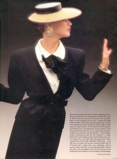 Christy Turlington wearing Yves Saint Laurent in Vogue US April 1986 (photography: Dominique Issermann) via www.fashionedbylove.co.uk