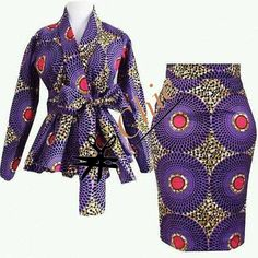 African women clothing/ African peplum blouse and skirt /African fit and flare balls/African peplum jacket and skirt. African Fashion Designers, African Inspired Fashion, Latest African Fashion Dresses, African Dresses For Women, African Print Fashion, Africa Fashion, African Attire, African Women, African Image