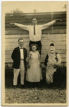 Sideshow Performers, real photo postcard, Angelica Paez collection