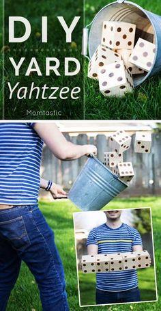 DIY Yard Yahtzee game