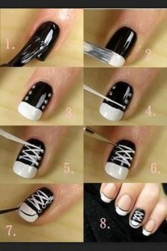 DIY Nail Art Designs Step By Step Tutorials. For instructions and more DIY nail designs visit http://nailartpatterns.com/diy-nail-art/