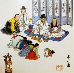 Korean Traditional, Traditional Art, Korean Painting, Korean Art, Asian Beauty, Photo Art, Fine Art, Comics, Classic