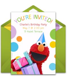 Free Elmo Party Invitation orderecigsjuiceinfo