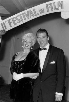 Jayne Mansfield and husband Mickey Hargitay