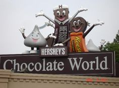 Hershey, PA - great amusement park and yummy food in neighboring Amish country