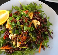 Moroccan Spiced Roasted Vegetables with Black Rice