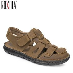 b8e0458aed62b ROXDIA mens gladiator sandal genuine leather summer men sandals new fashion breathable  male beach shoes 39
