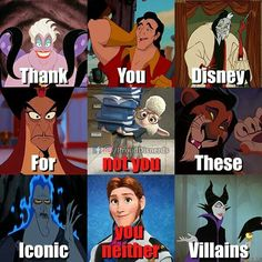 Lol really new villains r shit. <<<<<<<<<< Its not that theyre shit, theyre just completely irredeemable and have no likeable qualities Funny Disney Memes, Disney Jokes, Movie Memes, Disney S, Disney Cartoons, Disney Magic, Disney Theory, Pixar Movies, Disney And Dreamworks