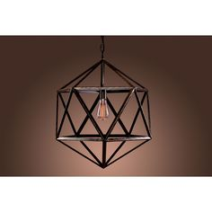 The Cages Pendant Light is a uniquely designed steel pendant light. This rare lighting fixture will add a contemporary touch and vintage feel to your home.