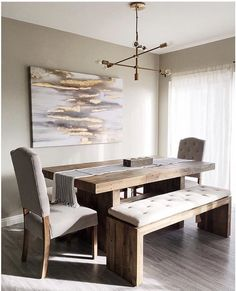 Foldable Dining Table, Dining Room Small, Grey Dining Tables, Dining Room Design, Home Decor, Lounge Interiors, Dining Design, Wooden Dining Tables, Living Room Designs