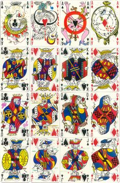 Surrealist Playing Cards by Salvador Dali, Famous Spanish Artists, Magritte, Pop Art, Art Projects, Street Art, Illustration Art, Playing Cards, Art Prints, Pattern