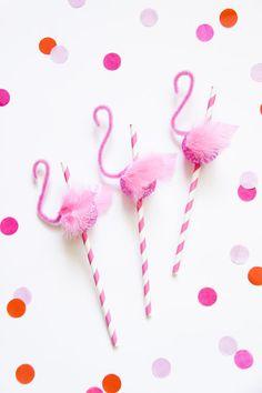 Fete Gazette: DIY Flamingo Straws