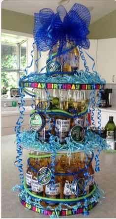 With 24 coronas and some grizz! His favorite, pretty proud of… Beer Cake Gift, Beer Bottle Cake, Beer Cakes, Hubby Birthday, 21st Birthday, Birthday Parties, Birthday Ideas, Cool Birthday Cakes, Birthday Presents