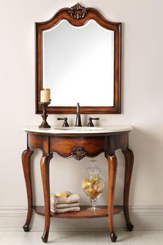 love this delicate vanity for a powder bath