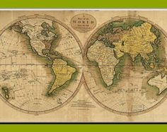 Items similar to Wall world map, Old World Map, Ancient maps, Linschoten 1598 Spice Islands , 16 on Etsy