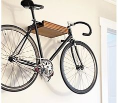 Bike rack / shelf - solid walnut and birch