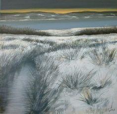 Neve sul lago 80x80 cm Luigi Torre painter 2016