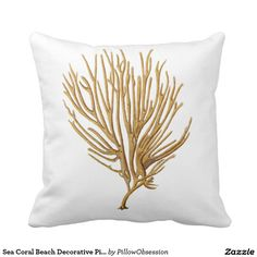 Sea Coral Beach Decorative Pillow no.12
