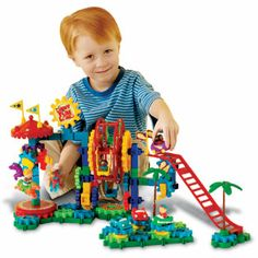 Gears! Gears! Gears!® Dizzy Fun Land™ Motorized Gears Set - Construction - Shop by Category - Parents - Learning Resources®Kids can spend whole days at the amusement park with this 120-piece motorized set. Includes a handheld motor, carousel, Ferris wheel, bumper cars, roller coaster, play figures and enough colorful, spinning gears to make everything come to life. Encourages creativity and mechanical reasoning and builds motor skills.