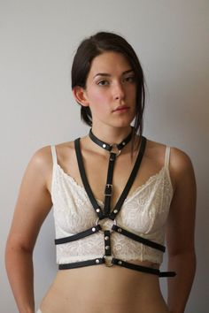 The Enheduanna Harness by WildWolfLeatherwork on Etsy