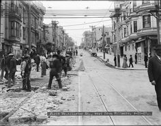 Track Construction on McAllister Street West from Fillmore Street | April 25, 1907