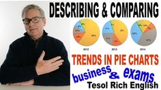 Describe and compare trends in PIE CHARTS - IELTS, Cambridge BEC Exams