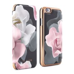 a7bccc5c3526b6 Ted Baker KNOWANE Folio Case for iPhone 6   6S - Porcelain Rose (Black)