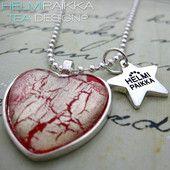 Punainen-kulta sydän 15€ #kaulakoru #necklace #sydän #heart