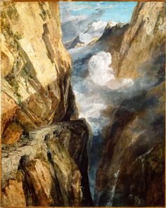 The Athenaeum - The Pass of Saint Gotthard, Switzerland (Joseph Mallord William Turner - )...I can`t believe it...How???