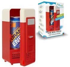 Kühles Bier oder ein kaltes Redbull? Beim Arbeiten am Schreibtisch ein schneller Griff in den Mini Kühlschrank USB - Männerträume werden mit diesemGeschenk war.