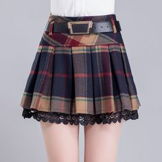 Girly_20korean_20plaid_20a-line_20pleated_20midskirt_20belt_20laced_20_20gg248_original