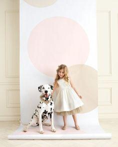 polka-dot backdrop