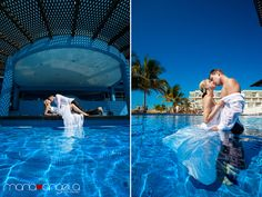 Trash the Dress Session in Riviera Maya, Mexico.