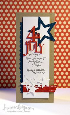 cute invitation--could use for Memorial Day, too