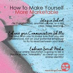 Three simple tips for job seekers. How to make yourself more marketable