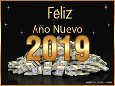 Tarjetas para Año Nuevo 2019 - Tarjetas de Cumpleaños con Nombres Happy New Year Gif, Happy New Year Greetings, Merry Christmas And Happy New Year, Christmas Wishes, Christmas Tree Wallpaper, Holidays And Events, Diy And Crafts, Merry Little Christmas, Love