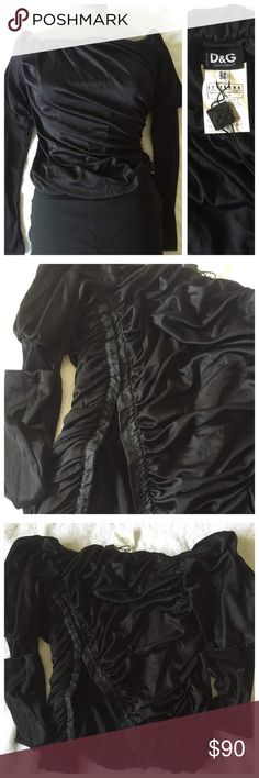 Dolce Gabbana D&G Black top brand new Dolce & Gabbana Tops Blouses