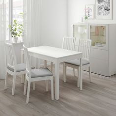 EKEDALEN / EKEDALEN Table and 2 chairs, white, Orrsta light gray - IKEA Chaise Ikea, Ikea Chair, At Home Furniture Store, Modern Home Furniture, Dining Room Tables Ikea, Dining Chairs, Small Space Living, Small Spaces, Ikea Family