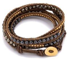 ShopStyle: Chan Luu Pyrite Wrap Bracelet
